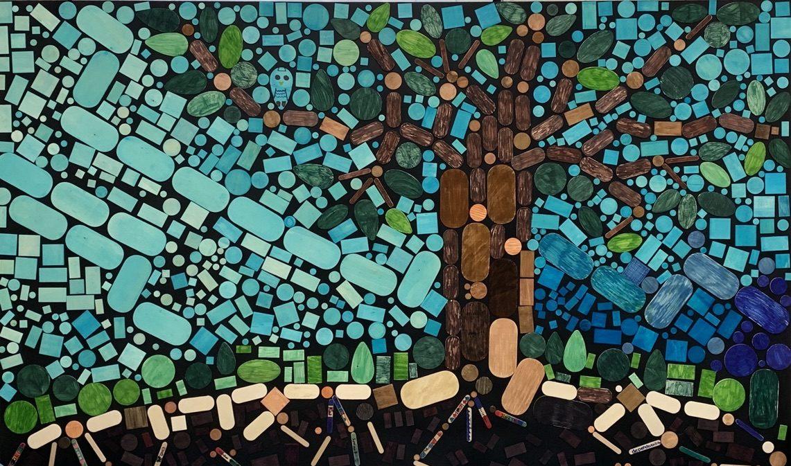Mosaic of tree